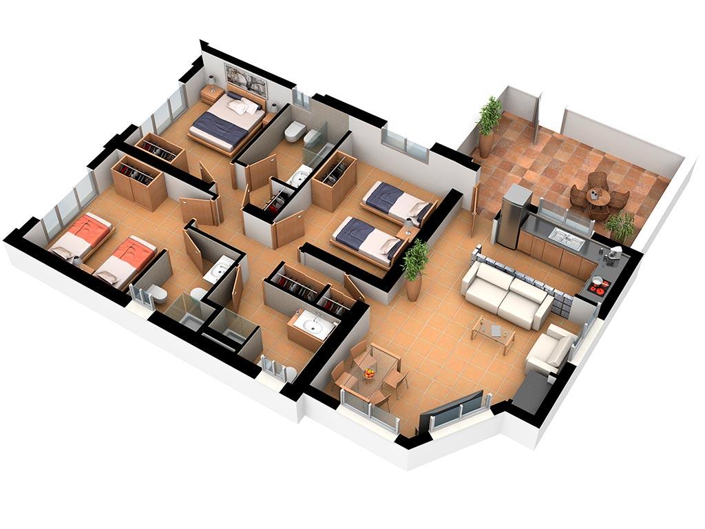 Casa Letur: Plano Interior