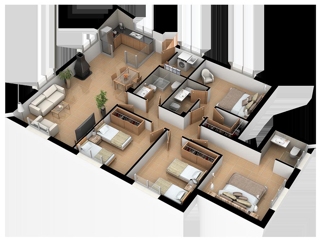 Complejo La Tejera: Plano de la Casa Ayna