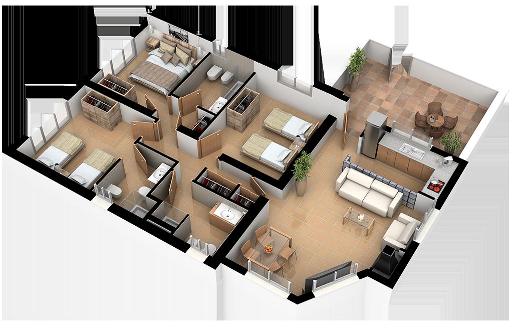 Complejo La Tejera: Plano de la Casa Letur