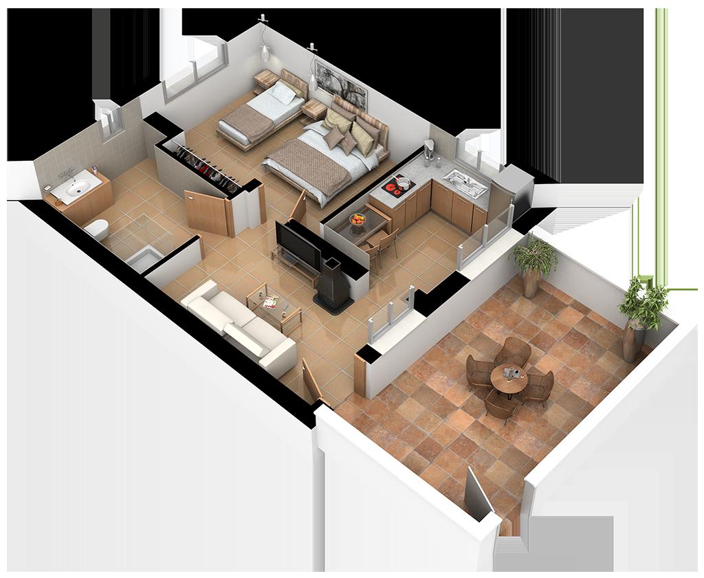 Complejo La Tejera: Plano de la Casa Riopar I