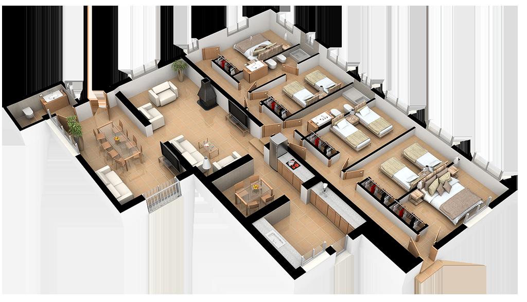 Complejo La Tejera: Plano de la Casa Tejera