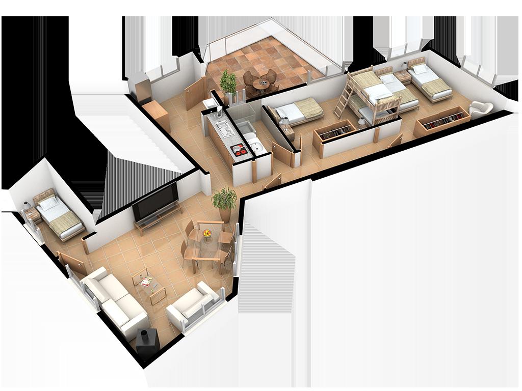 Complejo La Tejera: Plano de la Casa Villarés II